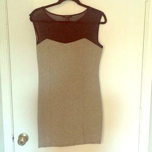 Mesh Gray and Black Mini Dress